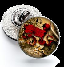 Pin de Solapa Magglass Ilustraciones Rosa de los Vientos Nº2 16mm