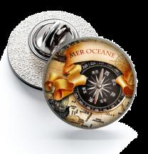 Pin de Solapa Magglass Ilustraciones Rosa de los Vientos Nº5 16mm