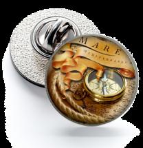 Pin de Solapa Magglass Ilustraciones Rosa de los Vientos Nº8 16mm