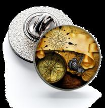 Pin de Solapa Magglass Ilustraciones Rosa de los Vientos Nº9 16mm