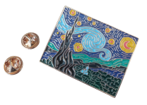 Pin de Solapa La noche Estrellada Van Gogh 4,5x3,5cm