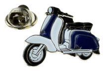 Pin de Solapa Lambretta Azul y Blanco
