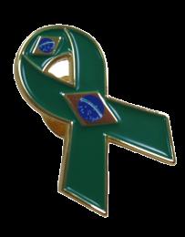 Pin de Solapa Lazo Bandera Brasil Flag Ribbon Brazil 30x25 mm
