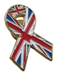 Pin de Solapa Lazo Bandera Reino Unido Flag Ribbon Great Britain 30x25 mm