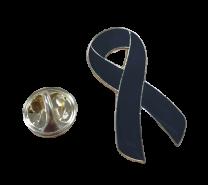 Pin de Solapa Lazo negro Black Ribbon mod 2 28x15mm