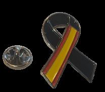 Pin de Solapa Lazo Negro España Black Ribbon Spain 30x25 mm