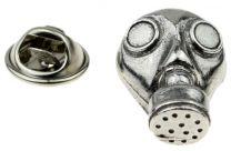 Pin de Solapa Máscara de Gas Plateada