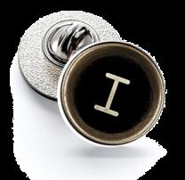 Pin de Solapa Magglass Botón de Maquina de Escribir Letra Letter I 16mm