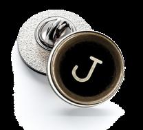 Pin de Solapa Magglass Botón de Maquina de Escribir Letra Letter J 16mm