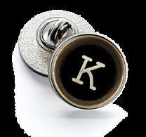 Pin de Solapa Magglass Botón de Maquina de Escribir Letra Letter K 16mm
