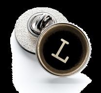Pin de Solapa Magglass Botón de Maquina de Escribir Letra Letter L 16mm
