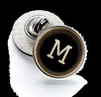 Pin de Solapa Magglass Botón de Maquina de Escribir Letra Letter M 16mm