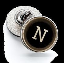 Pin de Solapa Magglass Botón de Maquina de Escribir Letra Letter N 16mm