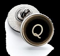 Pin de Solapa Magglass Botón de Maquina de Escribir Letra Letter Q 16mm