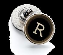 Pin de Solapa Magglass Botón de Maquina de Escribir Letra Letter R 16mm