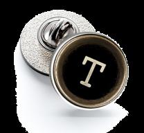 Pin de Solapa Magglass Botón de Maquina de Escribir Letra Letter T 16mm