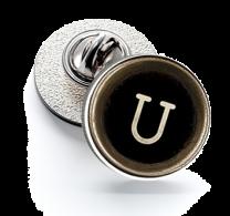 Pin de Solapa Magglass Botón de Maquina de Escribir Letra Letter U 16mm