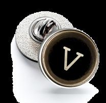 Pin de Solapa Magglass Botón de Maquina de Escribir Letra Letter V 16mm
