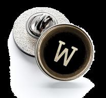 Pin de Solapa Magglass Botón de Maquina de Escribir Letra Letter W 16mm