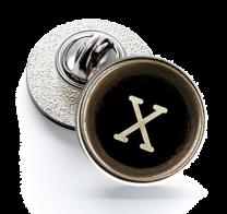 Pin de Solapa Magglass Botón de Maquina de Escribir Letra Letter X 16mm