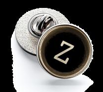 Pin de Solapa Magglass Botón de Maquina de Escribir Letra Letter Z 16mm