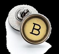 Pin de Solapa Magglass Boton de Maquina de Escribir Letra Letter B Mod 2 16mm
