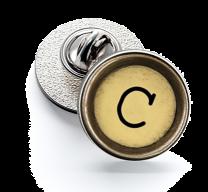 Pin de Solapa Magglass Boton de Maquina de Escribir Letra Letter C Mod 2 16mm