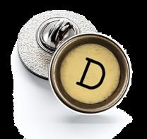 Pin de Solapa Magglass Boton de Maquina de Escribir Letra Letter D Mod 2 16mm