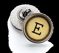 Pin de Solapa Magglass Boton de Maquina de Escribir Letra Letter E Mod 2 16mm