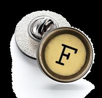 Pin de Solapa Magglass Boton de Maquina de Escribir Letra Letter F Mod 2 16mm