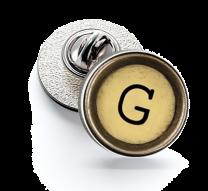 Pin de Solapa Magglass Boton de Maquina de Escribir Letra Letter G Mod 2 16mm