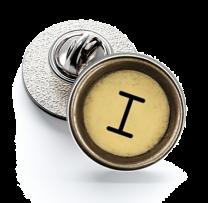 Pin de Solapa Magglass Boton de Maquina de Escribir Letra Letter I Mod 2 16mm