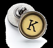 Pin de Solapa Magglass Boton de Maquina de Escribir Letra Letter K Mod 2 16mm