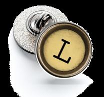 Pin de Solapa Magglass Boton de Maquina de Escribir Letra Letter L Mod 2 16mm