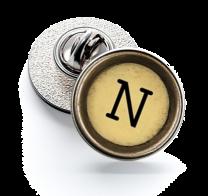 Pin de Solapa Magglass Boton de Maquina de Escribir Letra Letter N Mod 2 16mm
