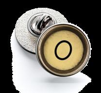 Pin de Solapa Magglass Boton de Maquina de Escribir Letra Letter O Mod 2 16mm