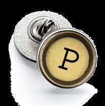 Pin de Solapa Magglass Boton de Maquina de Escribir Letra Letter P Mod 2 16mm