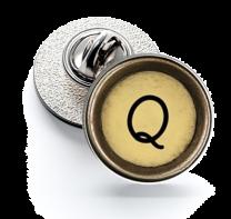 Pin de Solapa Magglass Boton de Maquina de Escribir Letra Letter Q Mod 2 16mm
