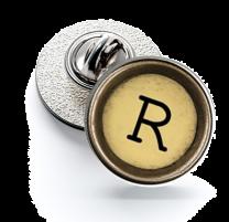 Pin de Solapa Magglass Boton de Maquina de Escribir Letra Letter R Mod 2 16mm