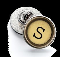 Pin de Solapa Magglass Boton de Maquina de Escribir Letra Letter S Mod 2 16mm