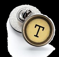 Pin de Solapa Magglass Boton de Maquina de Escribir Letra Letter T Mod 2 16mm