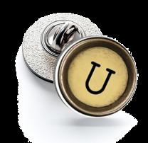 Pin de Solapa Magglass Boton de Maquina de Escribir Letra Letter U Mod 2 16mm