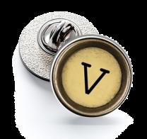 Pin de Solapa Magglass Boton de Maquina de Escribir Letra Letter V Mod 2 16mm