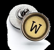 Pin de Solapa Magglass Boton de Maquina de Escribir Letra Letter W Mod 2 16mm
