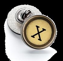 Pin de Solapa Magglass Boton de Maquina de Escribir Letra Letter X Mod 2 16mm