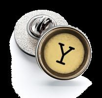 Pin de Solapa Magglass Boton de Maquina de Escribir Letra Letter Y Mod 2 16mm