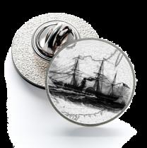 Pin de Solapa Magglass Grabados Barcos Nº11 16mm