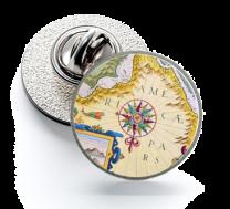 Pin de Solapa Magglass Rosa de los Vientos y Navegación Nº21 16mm