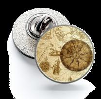 Pin de Solapa Magglass Rosa de los Vientos y Navegación Nº22 16mm