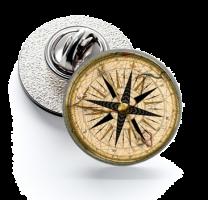 Pin de Solapa Magglass Rosa de los Vientos y Navegación Nº23 16mm